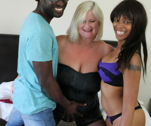 Granny Lacey Starr having a wild FFM three way with a..