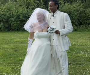 Mature bride Lacey Starr blows off her black groom after..