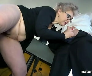 Horny Granny can't wait to jizz
