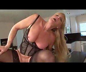 Nina - Hot Blonde Granny In Stocking