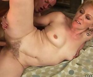 Hairy mature Jane and young Tarzan