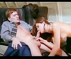 Passengers fucking while stewardess watching