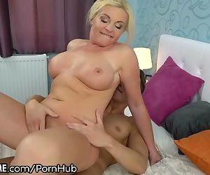 Stunning Mature Rides Young Studs Cock and Eats Gooey Load