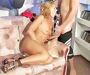 Russian guy fuck his sexy mom