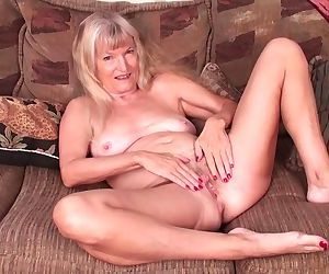 Skinny granny Nancy pussy masturbation video from www.matureshare.com