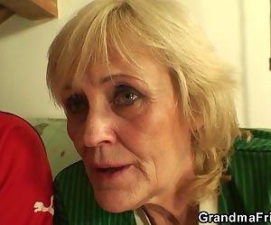 Football fans bang old grandma