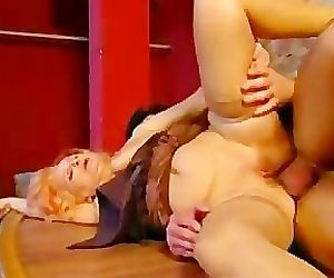 Redhead Granny Gets Her Butt Banged