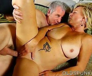 Saucy old spunker is a super hot fuck and loves sticky facials
