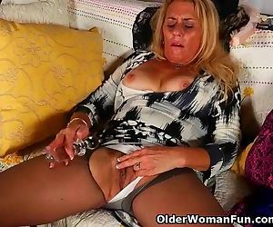 American gilf Cristine needs masturbation for starters