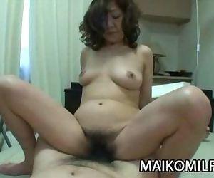 Eriko Nishimura - Wild Japan Mom Riding A Hard COck