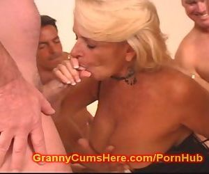 My Granny is a GANG BANG WHORE