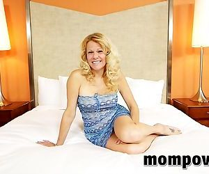 Horny milf performs in first time video