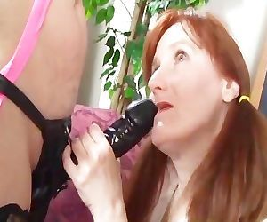 8 LESBIAN GRANNIES AND THE BIG BLACK DILDO 1 - Scene 4