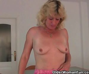 Granny Gets Her Hard Nipples Pinched And Her Old Pussy Fingered