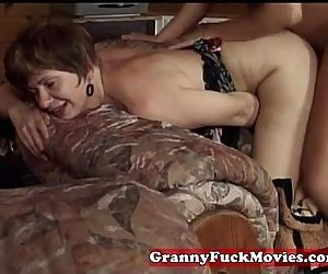 Grandma nailed by horny guy - 5 min