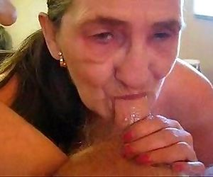 Old whore eats my cum. Amateur older - 1 min 3 sec