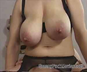 Granny sharing a few dicks - 5 min