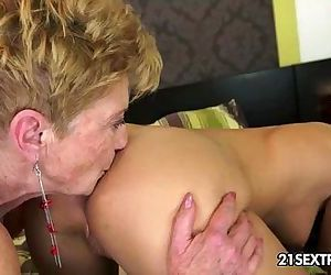 Denise Sky and Malya Old Young Lesbian Love - 5 min