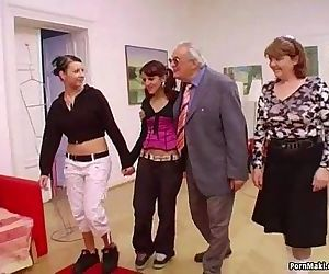 Hot babes suck grandpas cock - 6 min