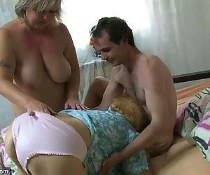Very old chubby granny fucking with young guy OLDNANNY - 8 min HD