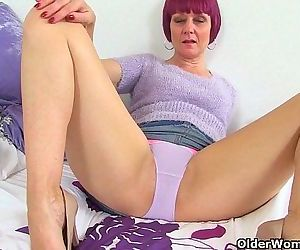 British milfs Penny and Elaine fuck their moist pussy with a dildoHD
