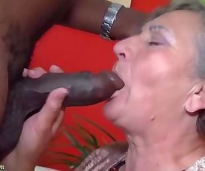hairy 80 years old granny first interracial 12 min HD+