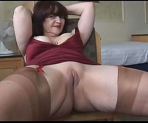 Big tits mature panty play and striptease - 7 min