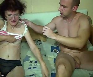 Young Girl and old Granny have fun in bathroom - 8 min HD