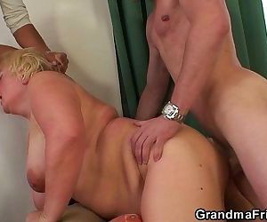 Boozed granny double fucked - 6 min HD