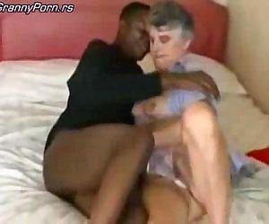 Grey Granny Fuck Black Guy - 7 min