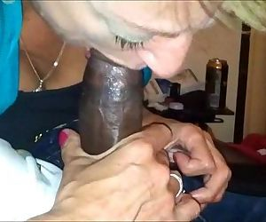 Amateur Grandma Interracial Blowjob - 4 min