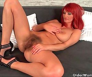 Sizzling hot redhead milfs take matters into their own handsHD
