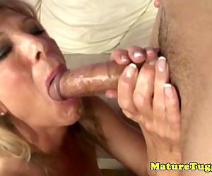 Jacking off loving grandma deepthroating - 5 min