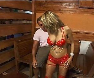 Hot mature slut banged in a tavern!
