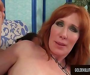 Mature Redhead Freya Fantasia Sucks on a Boner and Then Fucks It 8 min HD