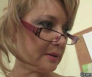 Office bitch enjoys riding his rod - 6 min