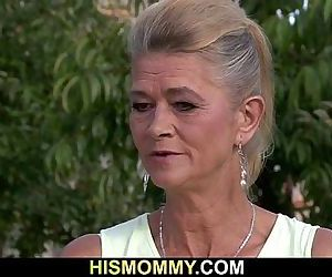 His old mom is toying her young pussy - 6 min