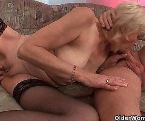 Grandma in stockings gets a facial - 6 min HD
