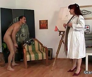 Hot mature lady jumps on his cock - 6 min