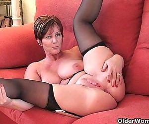 British granny Joy with big tits shows her fuckable body - 6 min HD