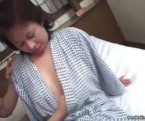 Asian granny enjoys threesome fucking - 7 min