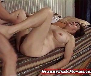 Hairy granny slit fucked by pro - 5 min