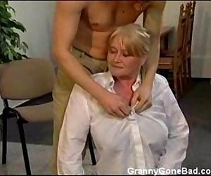 Granny with Big Soft Tits get Fingered and Fucked - 3 min