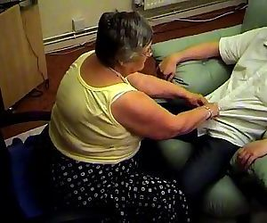 Grandma libby from EpikGranny.com gives blowjob and footjob - 5 min