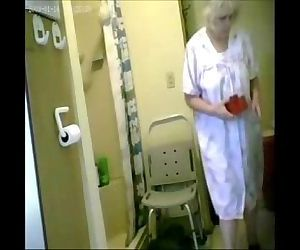 Woooow...watch my granny nude in shower. Hidden cam - 1 min 8 sec