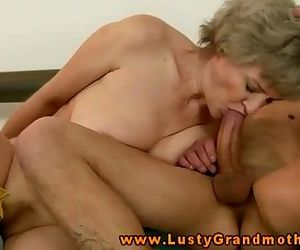 Amateur blonde GILF is riding a cock - 6 min