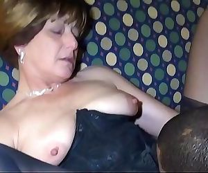 Black man fucks sexy White Brunette Granny 27 min 720p