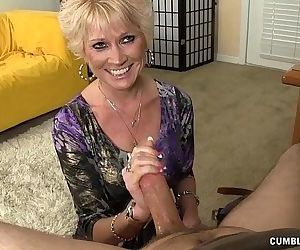 Topless Granny Splattered WIth Cum - 4 min HD