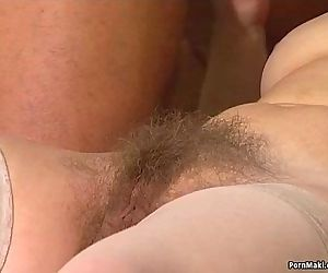 Granny twat filled with younger cock - 6 min HD