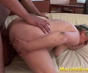 Plump Granny doggy fucked - 6 min